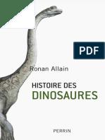 Allain Ronan - Histoire des dinosaures