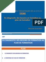 Du diagnostic des besoins au plan   de formation mai 2017