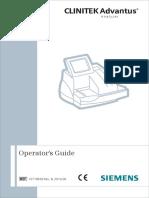 Clinitek Advantus-Operator's Guide