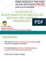 APPLICATION OF BIOINFORMATICS IN MOLECULAR BIOLOGY AND CURRENT RESEACRH-Dr. Ruchi Yadav