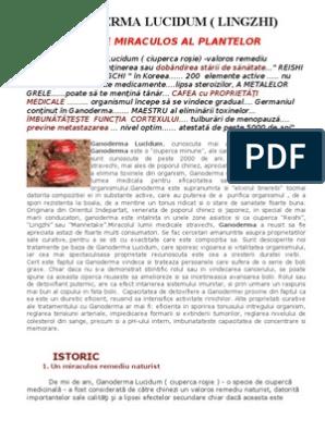 scheme de tratament cu ganoderma)