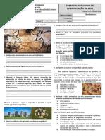 AVALIAÇÃO - EXERCÍCIOS AVALIATIVO DE INTERPRETAÇÃO DE ARTES