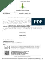 Documento enviado à CLDF sobre concursos