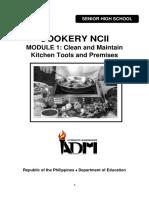 SHS11_Q1_Mod1_Cookery NC II CleanandMaintainKitchenToolsandPremises_version3.pdf