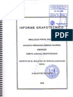 Informe Grafotecnico - Carta Bco. Wiese Sudameris... ¡falsa!