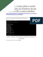 Tutorial – Como Saber a Versão Do Windows Dentro Da ISO