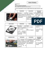 Velocidades y voltajes de los dispositivos internos