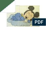Ponto de cruz Mickey
