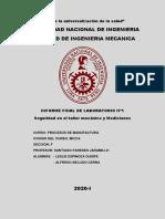 INFORME FINAL SEGURIDA EN EL TALLER MECANICO Y MEDICIONES