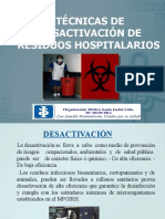 DESACTIVACIÓN DE RESIDUOS HOSPITALARIOS