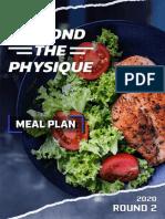2020 Btp Challenge Meal Plan - Sadik shred plan