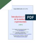 Claude Bernard - Introduction à l'Étude de la Médecine Expérimentale.pdf