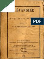 L'EVANGILE Selon Les Quatre Evangelistes Traduit Par JFE LeBoysDesGuays Et JBA Harle Librairie de La Nouvelle Jerusalem 1862