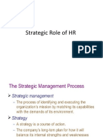 STRATEGIC ROLE of HR