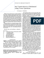 Optimal Water Conservation in a Mechanical Cooling Tower Operations