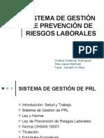 Sistema de Gestión de Prevención de Riesgos Laborales