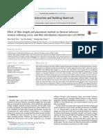 Effect of fiber length and placement method on flexural behavior