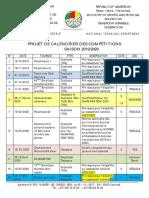 PROJET CALENDRIER  DES COMPÉTITIONS ON 2019 2020
