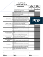 Dealer Self Evaluation Sheet - Sales