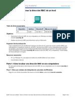 3.2.2.4 Lab - Determine the MAC Address of a Host - copia.docx