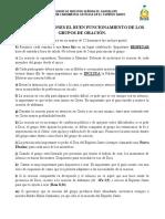 RECOMENDACIONES Y LINEAMIENTOS PARA EL BUEN FUNCIONAMIENTO DE LOS GRUPOS DE ORACIÓN