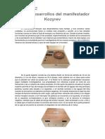 Nuevos desarrollos del manifestador Kozyrev