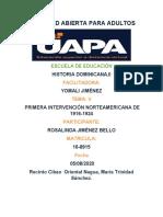 TAREA V Y VI HIST. DOMINICANA II ROSALINDA. J B.