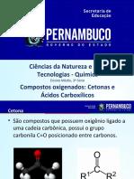 Compostos Oxigenados Cetonas e ácido carboxílico