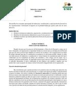 PRÁCTICA No. 6 Inducción y capacitación