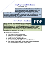Conducting Progressive Bible Studies -from insert - half sheet