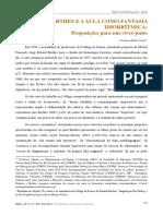 COSTA, Cristiano Bedin - ROLAND BARTHES E A AULA COMO FANTASIA IDIORRÍTMICA- Proposições para um viver junto