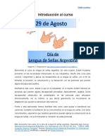 Introducción Lengua de Señas Argentina