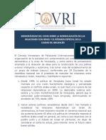 Comunicado Covri