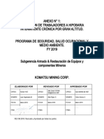 Anexo 1 Exposición de Trabajadores a Hipobaria Intermitente Crónica por Gran Altitud FY 2019