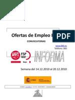UGT - OFERTAS EMPLEO PUBLICO SEMANA 14-12-2010