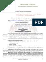 Lei 2545-81 - Organização Administrativa (art. 88 - agente administrativo atividade fiscalizadora)