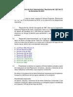 Análisis parte Resolutiva del Acto Administrativo Resolución No 1227 Del 12 De Noviembre De 2019
