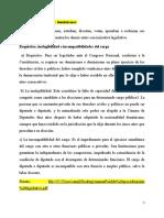 Criterios del legislador dominicano