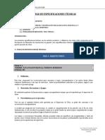 MOD. 4 PLIEGO DE ESPECIFICACIONES TECNICAS arquitectonico