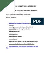 HABILIDADES DIRECTIVAS O DE GESTION
