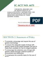 generics act report
