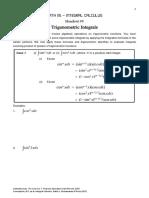 9. Trigonometric Integrals