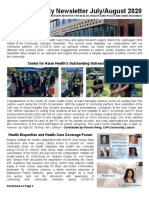 IFH Community Newsletter July/August 2020