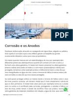 Corrosão e os Anodos _ Anodos de Sacrifício.pdf
