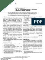 ASTM D1894 - Coeficiente de fricción