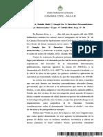 Denegri, Natalia Ruth - Google Inc. S-Derechos Personalisimos. Acciones Relacionadas