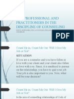 8 RIGHTS, RESPONSIBILITIES, ACCUNTABILITIES AND CODE OF ETHICS OF COUNSELORS