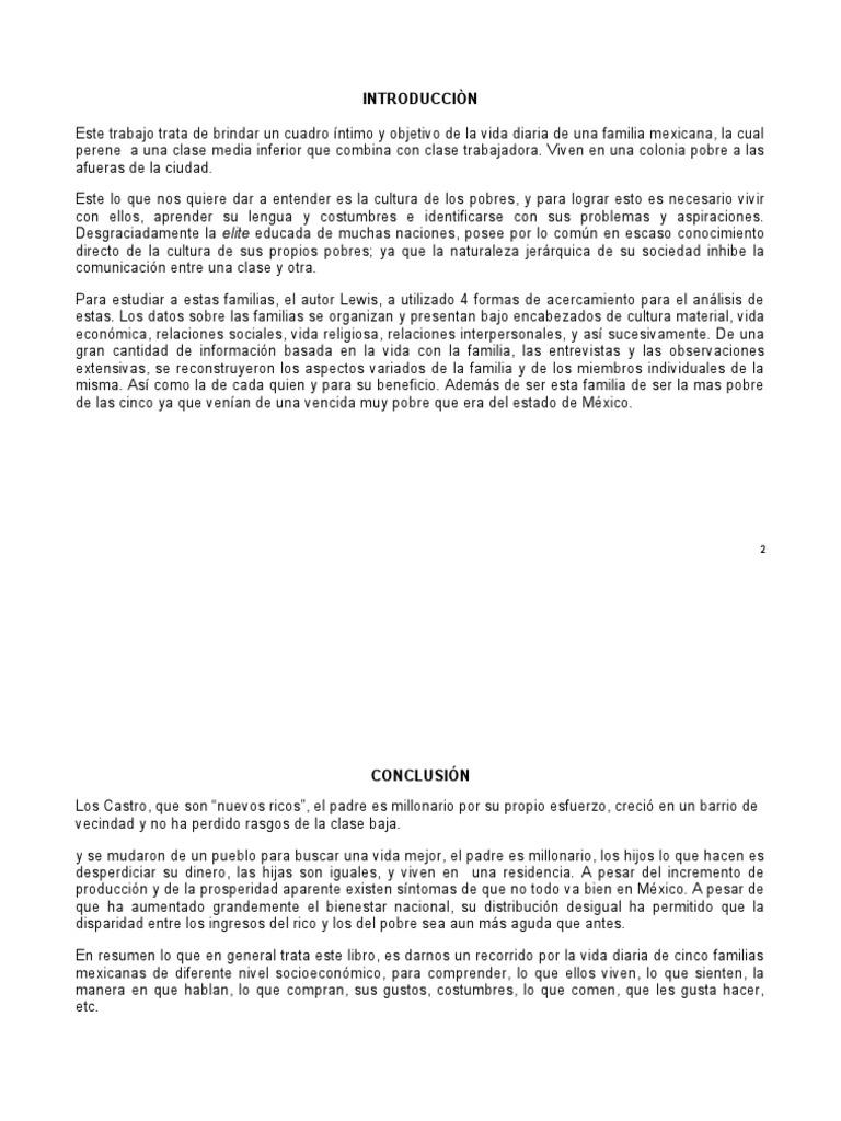 introducciÒn conclusion y bibliografia de la familia sanchez
