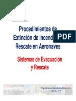 Procedimiento de Extinción de Incendios y Rescate en Aeronaves, 5 Parte
