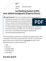 Comprehensive Ranking System (CRS) tool_ skilled immigrants (Express Entry)